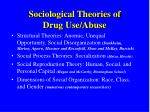 sociological theories of drug use abuse