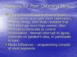 reasons for poor listening cont1