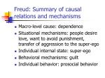 freud summary of causal relations and mechanisms