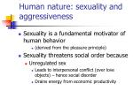 human nature sexuality and aggressiveness