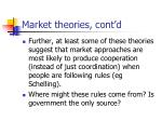 market theories cont d