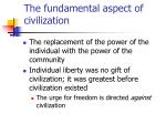 the fundamental aspect of civilization