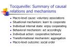 tocqueville summary of causal relations and mechanisms