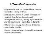 1 taxes on companies