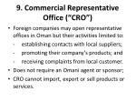9 commercial representative office cro