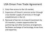usa oman free trade agreement
