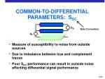 common to differential parameters s dc