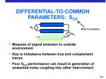 differential to common parameters s cd