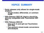 hspice summary