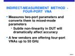 indirect measurement method four port vna