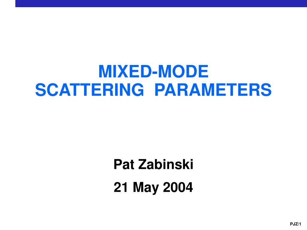 mixed mode scattering parameters l.