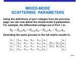mixed mode scattering parameters12
