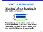 what is mixed mode