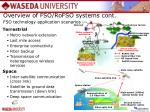 fso technology application scenarios