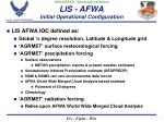 lis afwa initial operational configuration