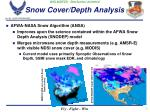 snow cover depth analysis