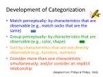 development of categorization