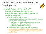 mediation of categorization across development26
