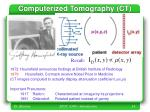 computerized tomography ct