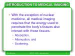 introduction to medical imaging1