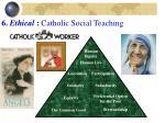 6 ethical catholic social teaching