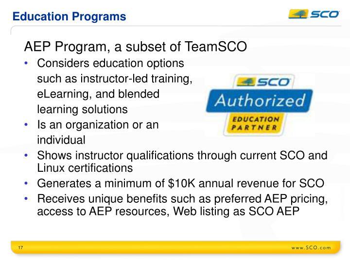 Education Programs