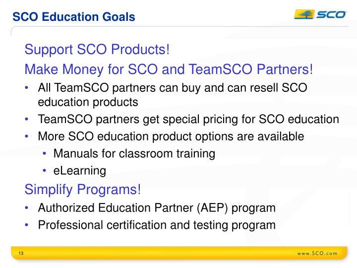 SCO Education Goals