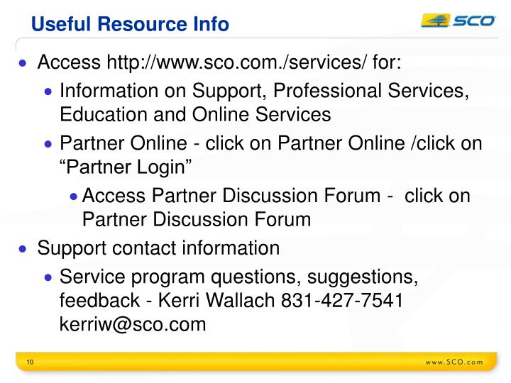 Useful Resource Info