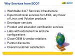 why services from sco