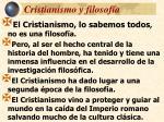 cristianismo y filosof a