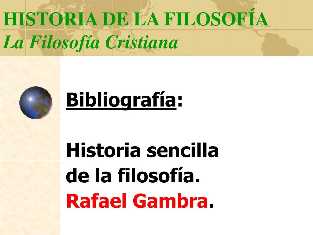 historia de la filosof a la filosof a cristiana l.
