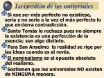 la cuesti n de los universales26