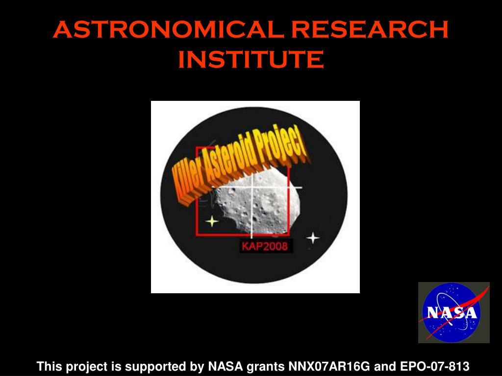 astronomical research institute l.
