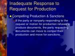 inadequate response to request for production