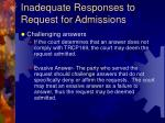 inadequate responses to request for admissions