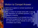 motion to compel answer
