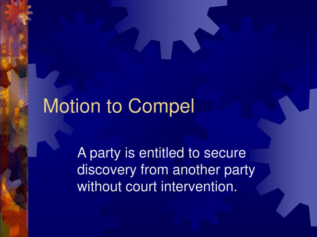 motion to compel l.