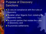 purpose of discovery sanctions