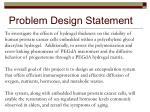 problem design statement