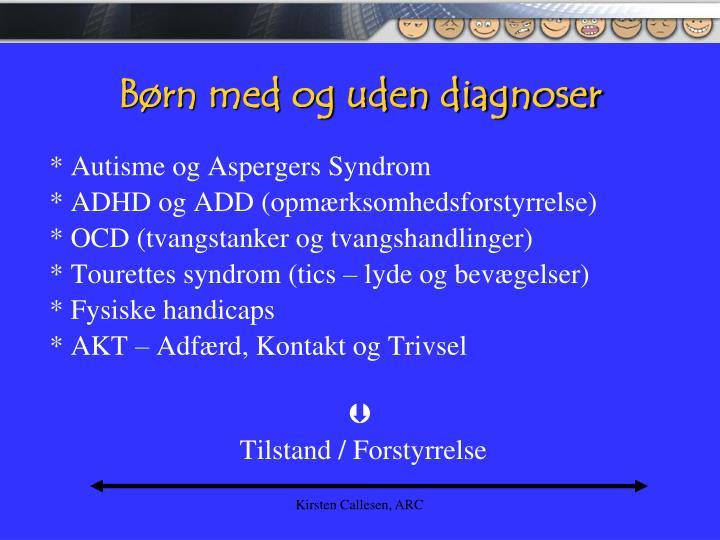 B rn med og uden diagnoser