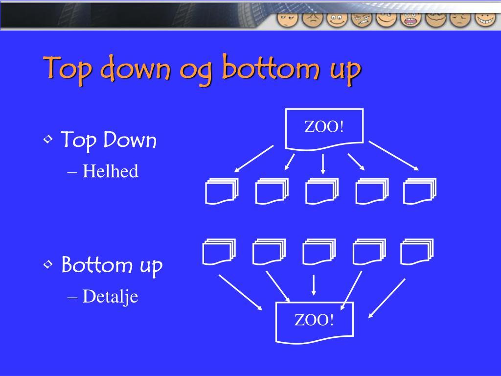 Top down og bottom up