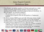 arms export controls definitions quiz