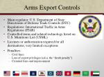 arms export controls