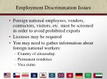 employment discrimination issues