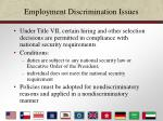 employment discrimination issues36