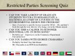 restricted parties screening quiz
