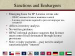 sanctions and embargoes26
