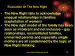 evaluation of the new right