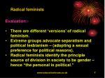 radical feminists7