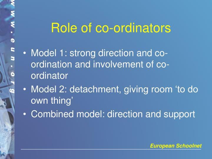 Role of co-ordinators